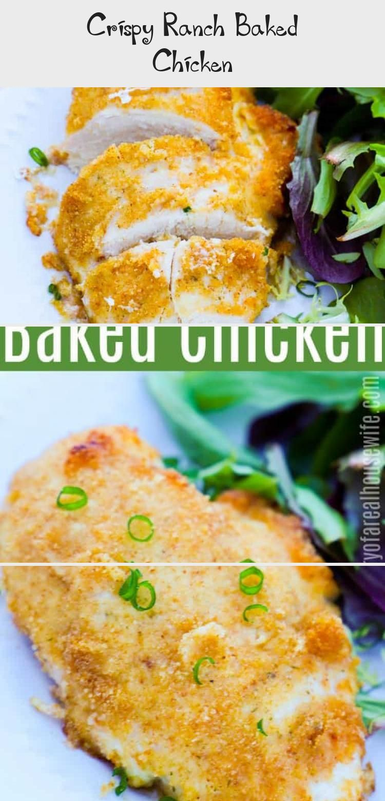 THIS chicken you have to try It is amazing Crispy Ranch Baked Chicken