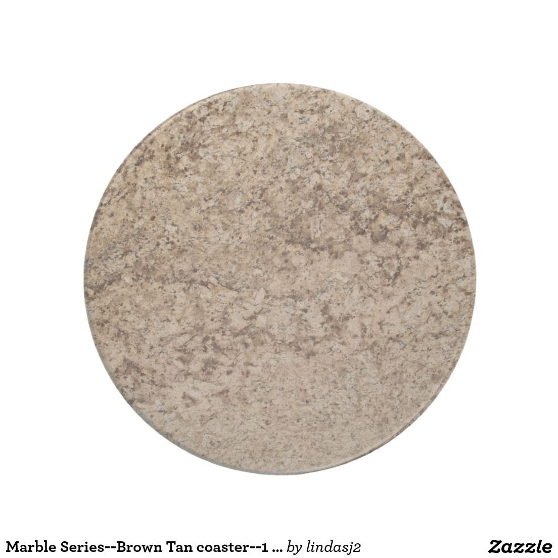 Marble Series--Brown Tan coaster--1 of Many Colors Drink Coaster