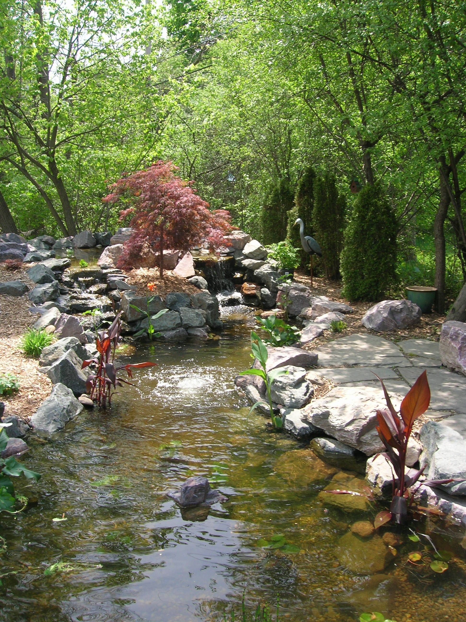landscaping in woods family