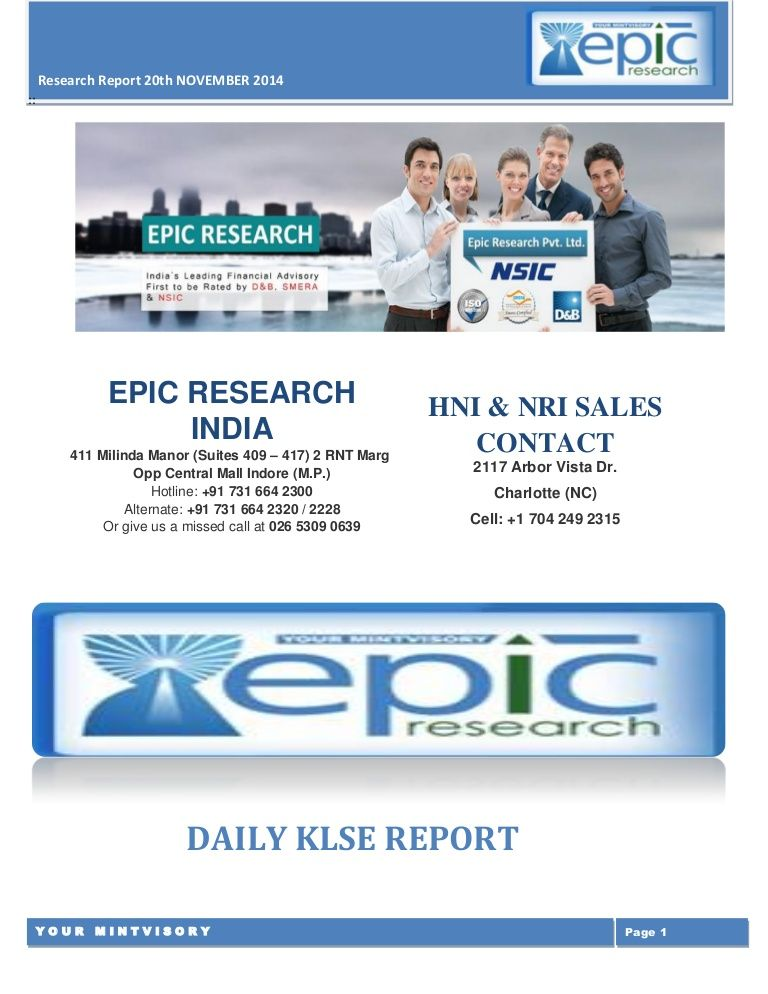 Epic Research Is A Financial Advisory Firm It Provides Daily