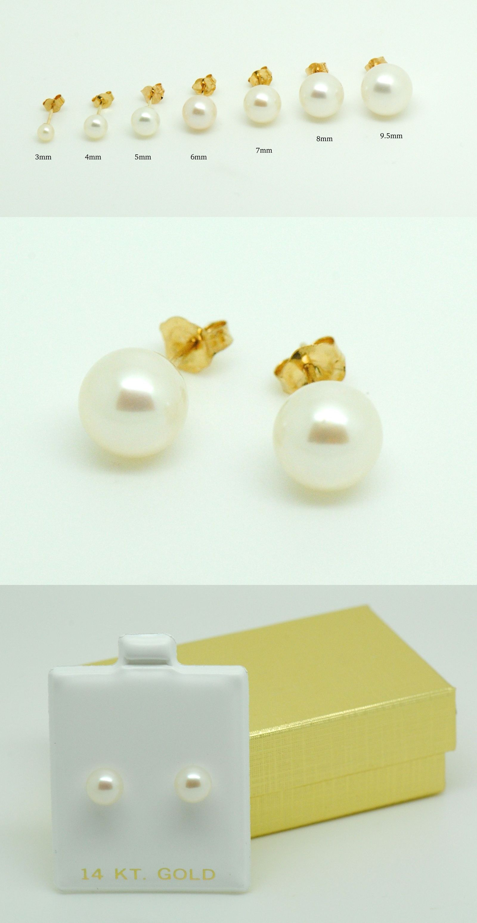 first yellow cultured baby gold more s pearl stud views karat