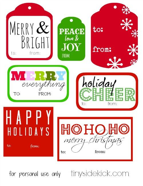 Free Printable Christmas Gift Tags | Printable christmas gift tags ...