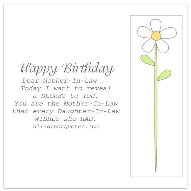 Happy Birthday Dear MotherInLaw – Free Birthday Card Wishes