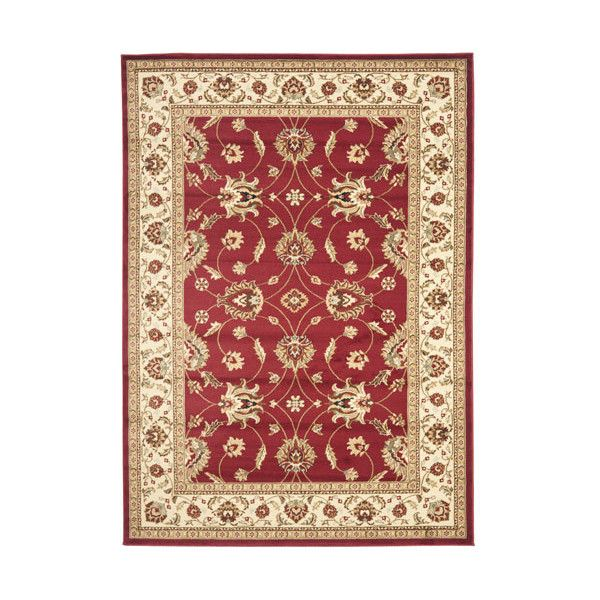 Safavieh Lyndhurst Red and Ivory Rectangular: 8 Ft. x 11 Ft. Rug (16,580 PHP) ❤ liked on Polyvore featuring home, rugs, olefin rug, ivory floral rug, cream rug, polypropylene rugs and olefin area rugs