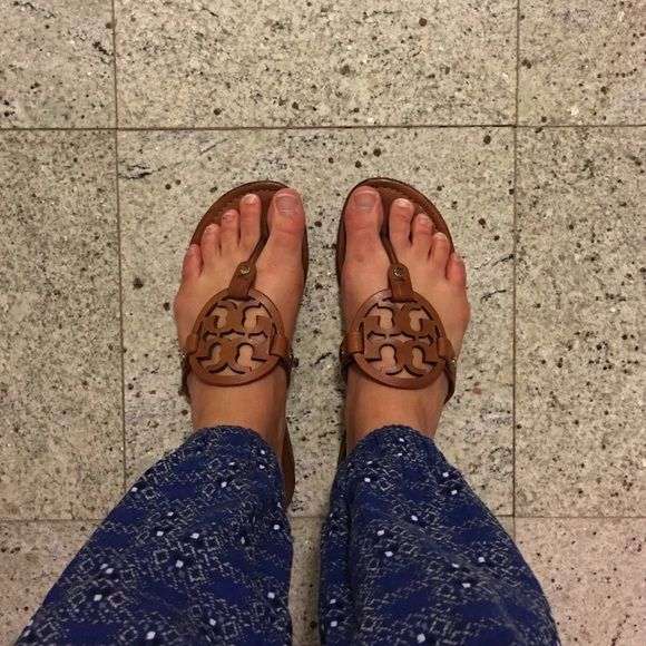 a2cc650d051c60 Tory Burch Miller Sandals Recently re-soled. Color is Vintage Vachetta. Pre-loved  but still have miles left! Tory Burch Shoes Sandals
