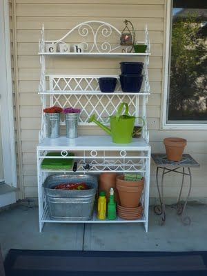 Outdoor Bakers Rack With Images Outdoor Bakers Rack Bakers