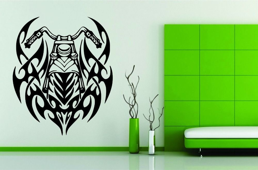 Wall Mural Vinyl Decal Decor Sticker Motorcycle Bike Chopper - Stickers for motorcycles harley davidsonsmotorcycle decals and stickers