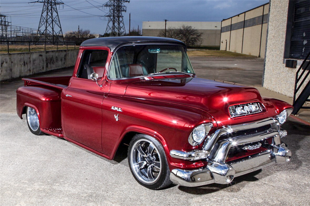 For sale at auction: This 1956 GMC Custom Pro-Touring pickup is the ...