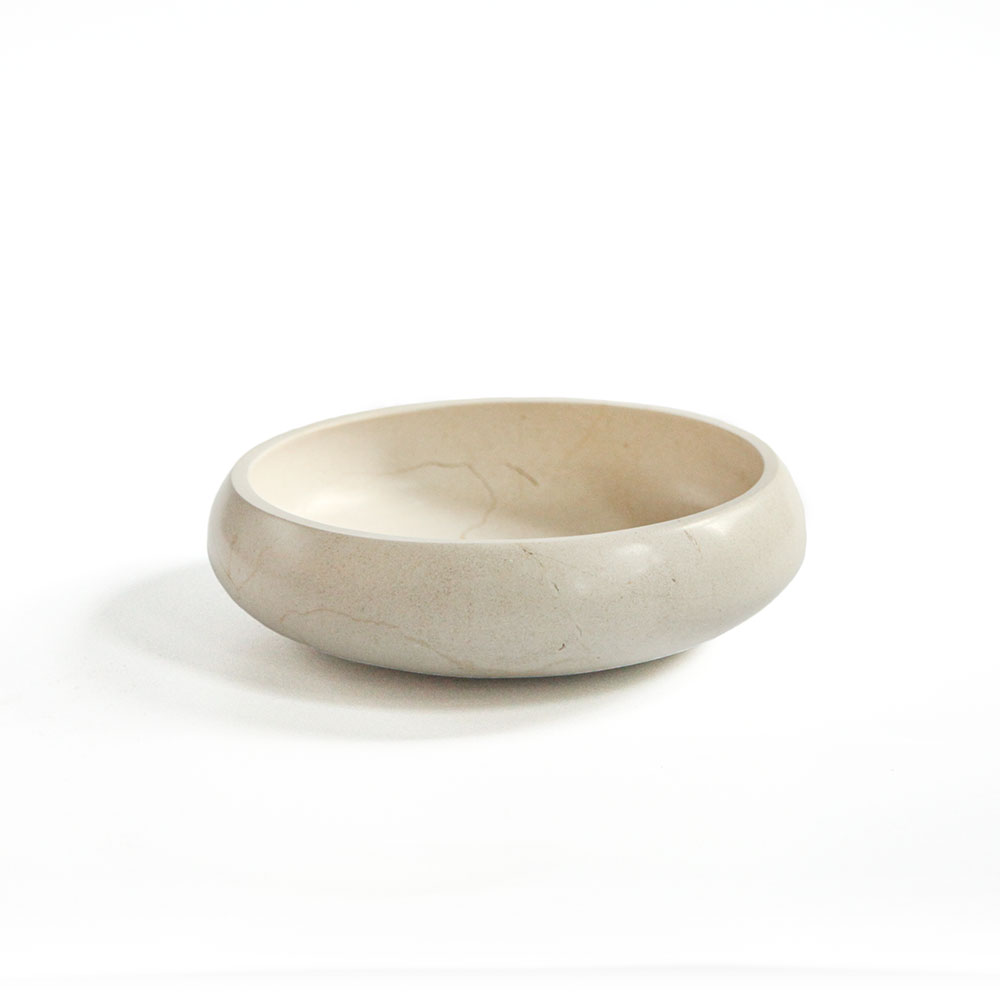 Piedra Collection Travertine Marble Bowl 1 L Aviva Home Marble Bowl Travertine Marble Bowl