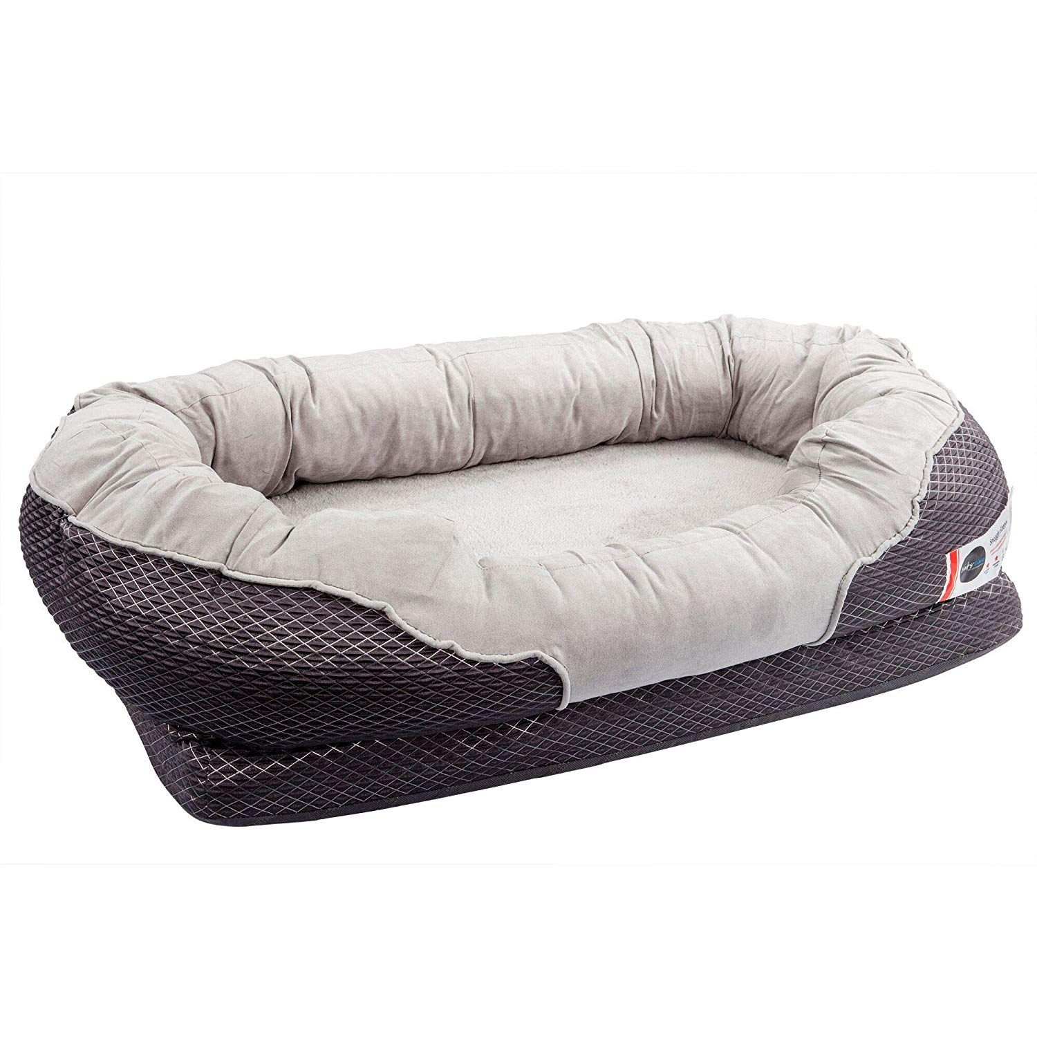 AmazonSmile BarksBar Large Gray Orthopedic Dog Bed 40