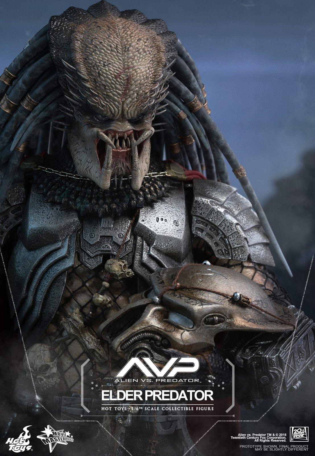 Preview Hot Toys Mms325 Avp Alien Vs Predator 1 6th Elder Predator Collectible Figure Predator Movie Alien Vs Predator Predator Alien