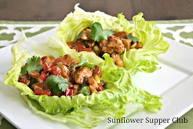 Sunflower Supper Club: Teriyaki Chicken Lettuce Wraps I would spice it up