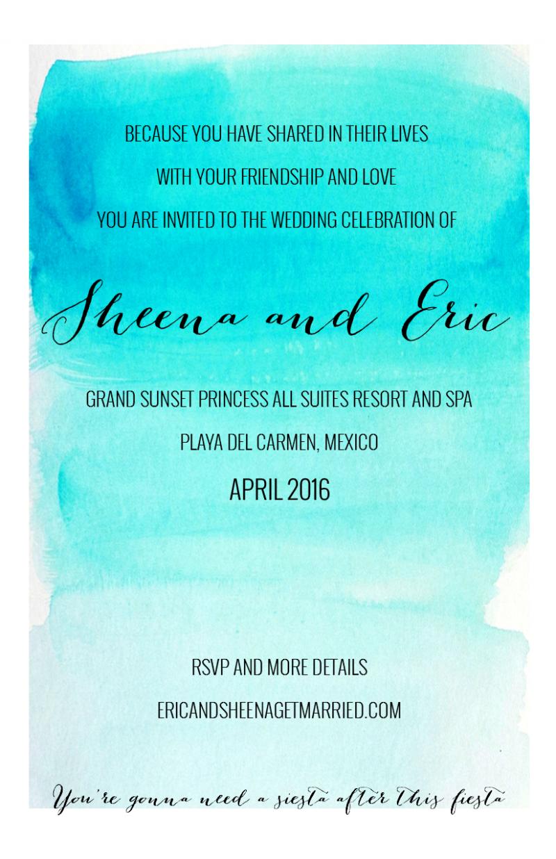 Destination Wedding Invites Invitation Templates  Destination