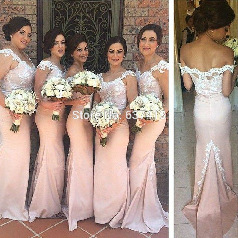 Bridesmaid Maids Dress Pedals Pink Aliexpress Blush Light Dresses With Lace