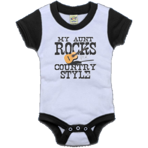 My Aunt Rocks Country Style Color Block Infant Creeper Black And