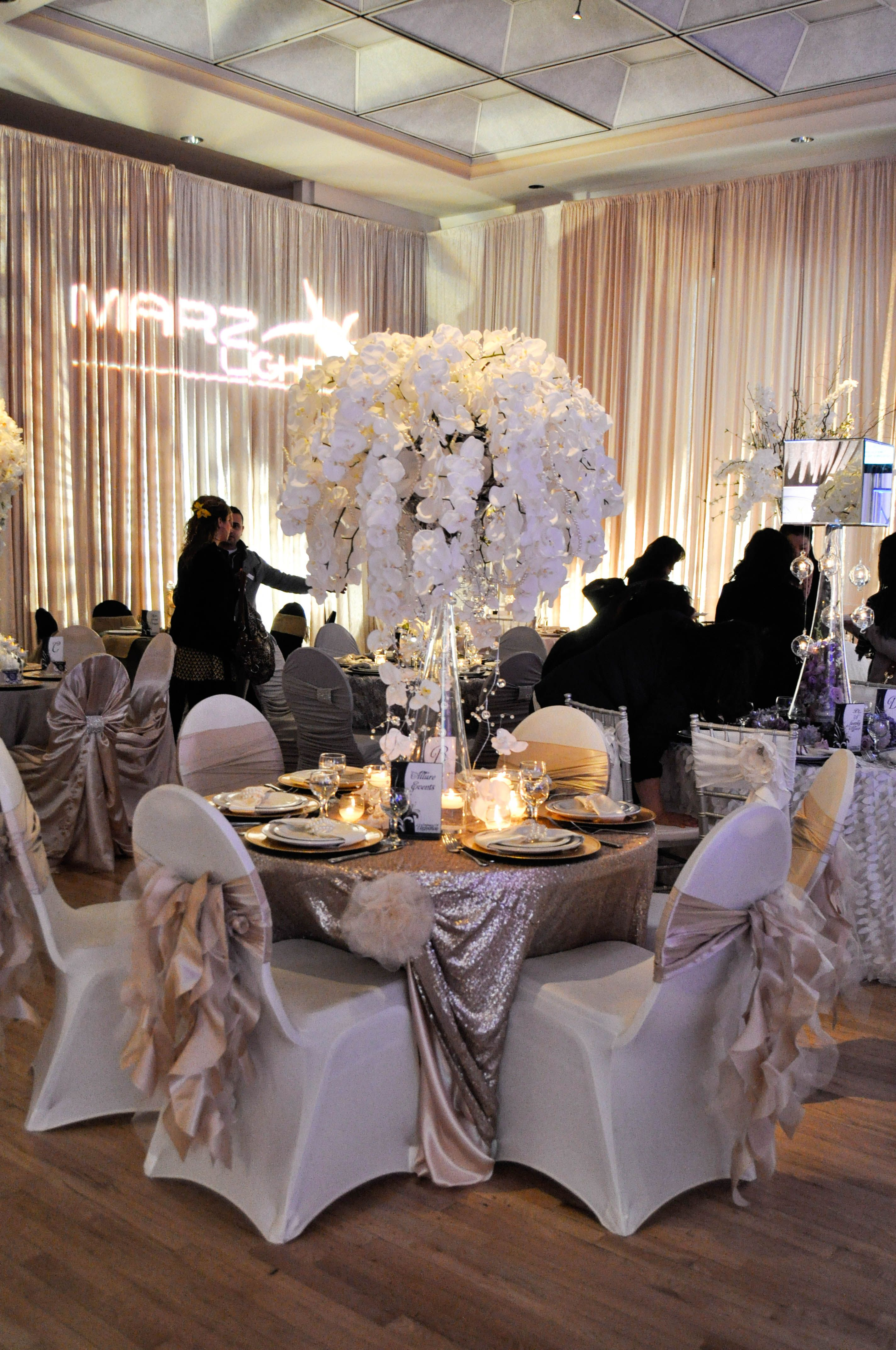 Table Top Decor By Allure Events At The Wedding Extravaganza 2014