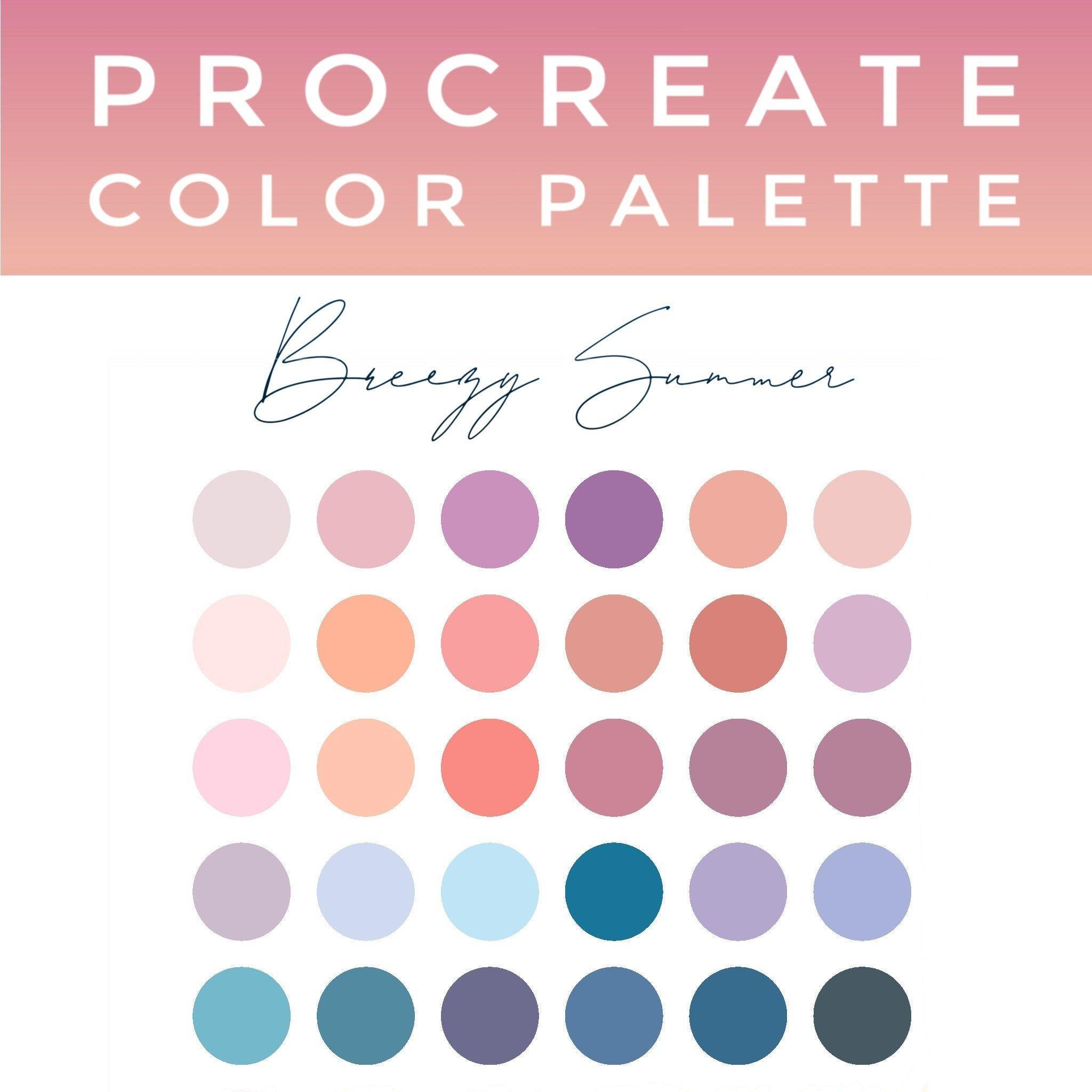 Procreate Color Palette Instant Download Color Trend 2020 Etsy In 2020 Pastel Colour Palette Color Palette Summer Color Palette