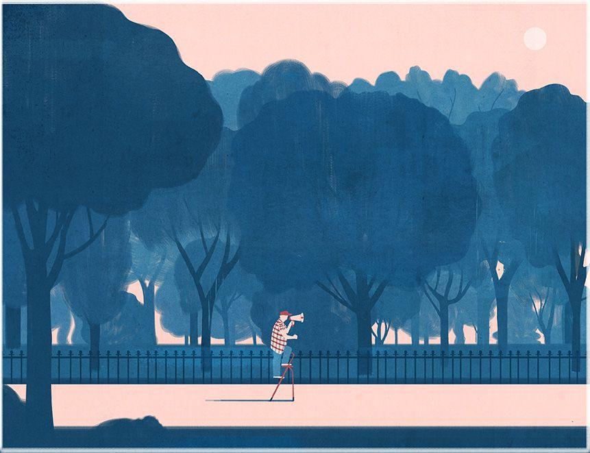 Emiliano Ponzi The Land Of Monologues La Repubblica Nature Illustration Wood Illustration Painting Illustration