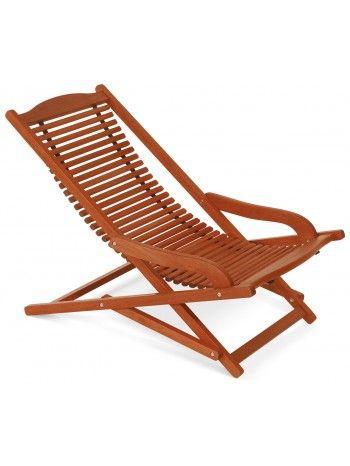 E\' una sdraio relax pieghevole tutta in legno massello di keruing ...