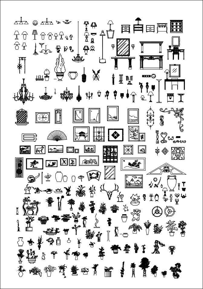 Alle Dekoration Blocks Bundle Drawing Room Design