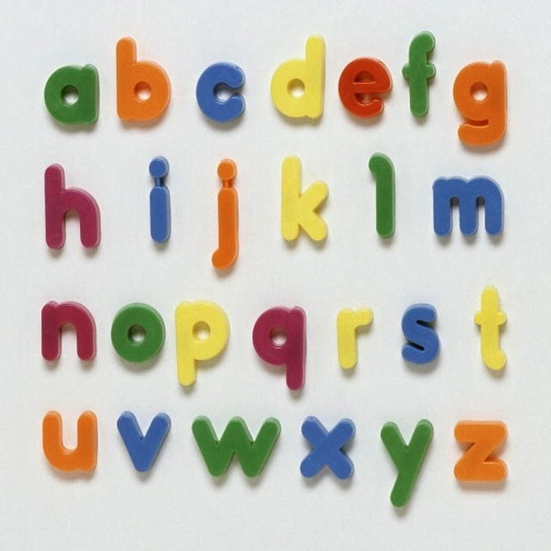 Colourful Alphabet Magnets Vintage plastic alphabet magnets These