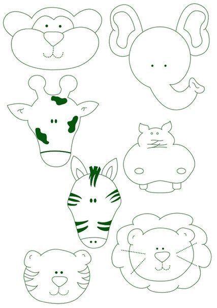 moldes para decorar | baby shower | Pinterest | Felt, Felt Animals ...