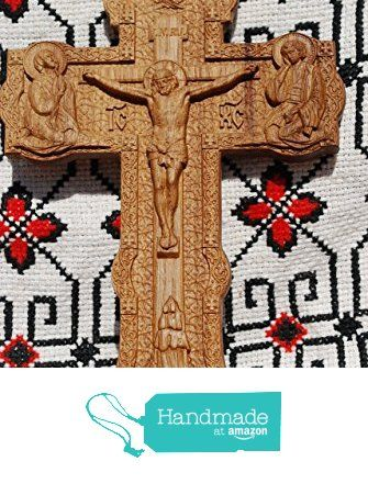 Cross Crucifix Durable unique christian gift Wood Carved religious ...