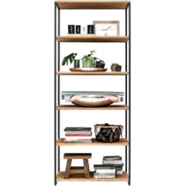 Standregal Aus Wildeiche Massivholz Und Stahl 40 Cm Tief Life Meubles In 2020 Steel Shelf Shelves Decor