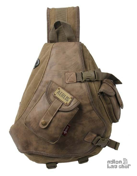 Khaki One Strap Bookbag I M Looking For A New Work Bag Know That Slingback Is Similar To Backpack Which Don T Like It S Better Choice Though