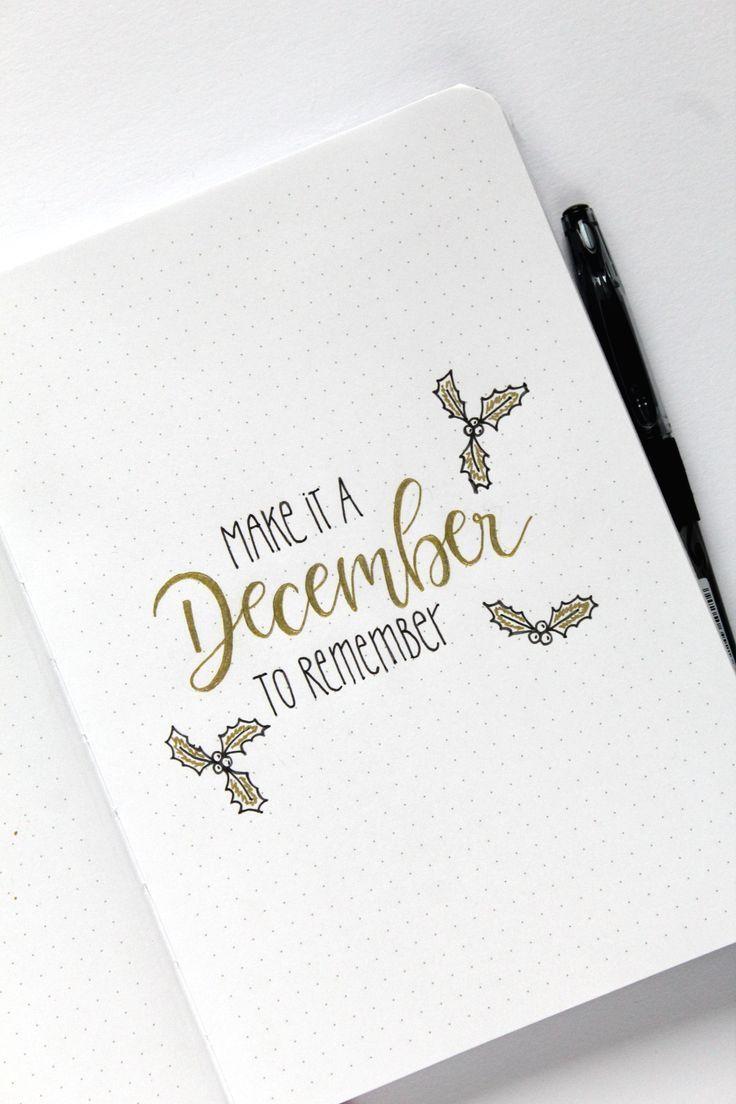 {Anzeige} Christmas Set-Up im pilot Bullet Journal