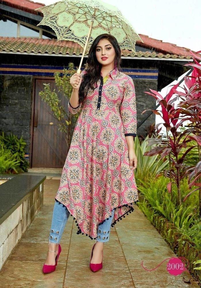 7345a825b4 New Indian Bollywood Women Cotton Kurta Kurti Designer Ethnic Dress Top  Tunic