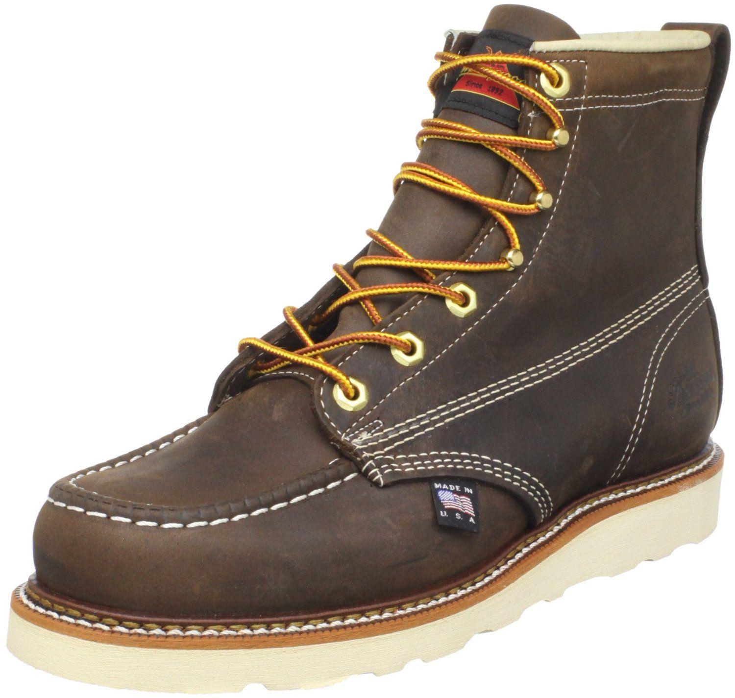 http://www.amazon.com/Thorogood-Mens-American-Heritage-Boot/dp/B004OWNNH2 Brown Crazy Horse Size 9(D)