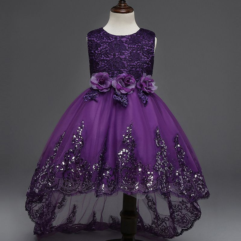 Click to Buy << 2017 Europe Style Princess Cosplay Kids Dresses Rose ...