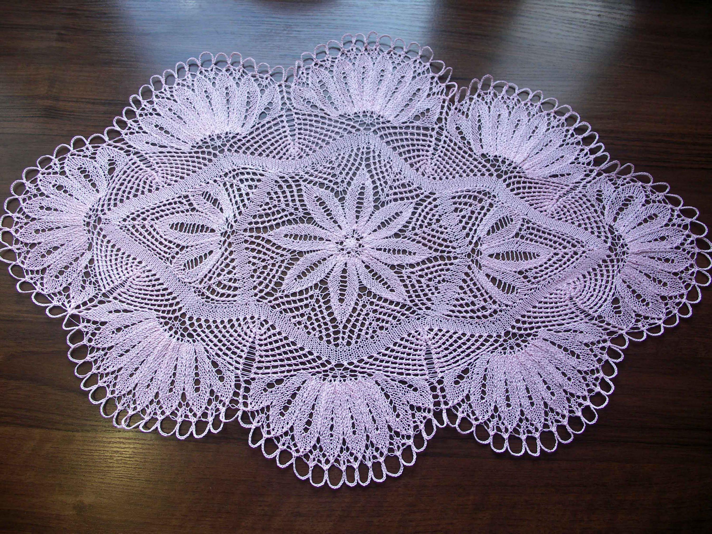 Салфетка спицами часть 2 уголки (knitting cloth part 2 corners ...