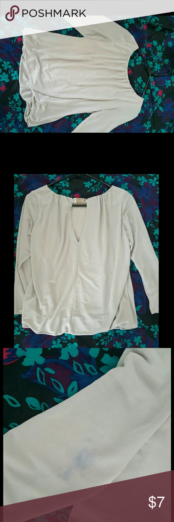 Pale Pink Blouse It is used with a spot on the sleeve H&M Tops Blouses