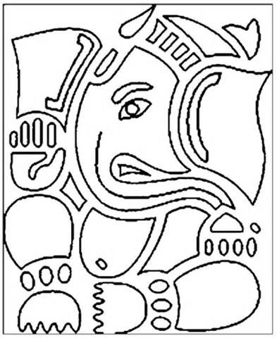 Lord Ganesha Coloring Page Printables sketch template | templats and ...