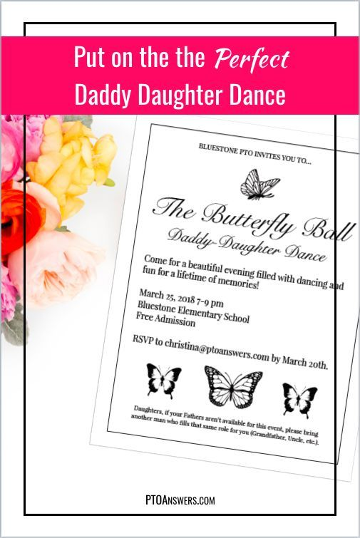 Daddy Daughter Dance Flyer and Ticket Template Set Pinterest Mini