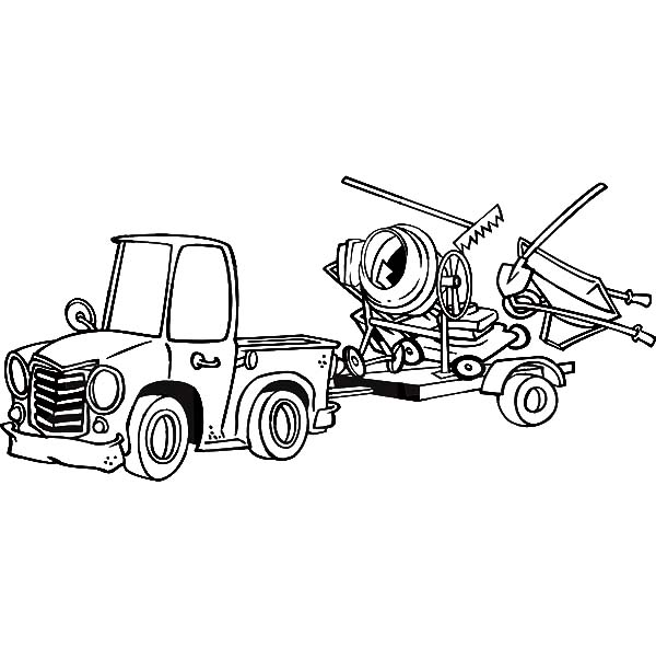 Car Transporter Coloring Page Pics