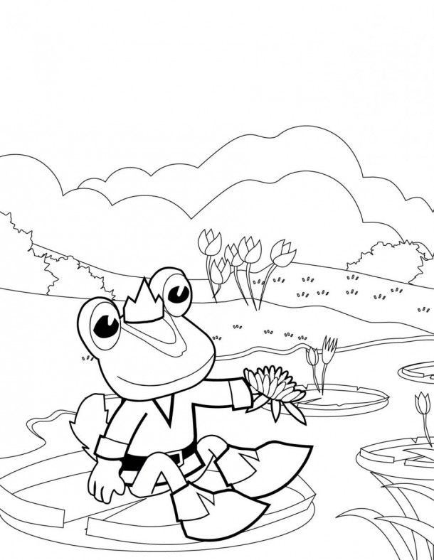 Frog Prince Coloring Pages Animalscoloring Com Coloring Pages