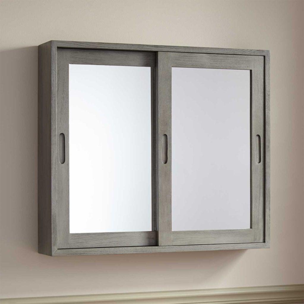 Large Wood 3 Door Bathroom Medicine Cabinet