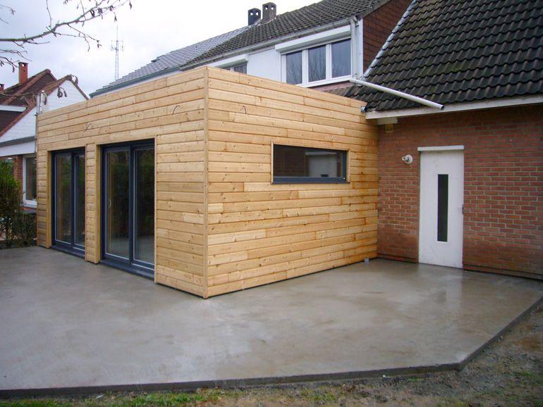 Extension en bois du0027une maison traditionnelle située dans un - extension maison bois 20m2