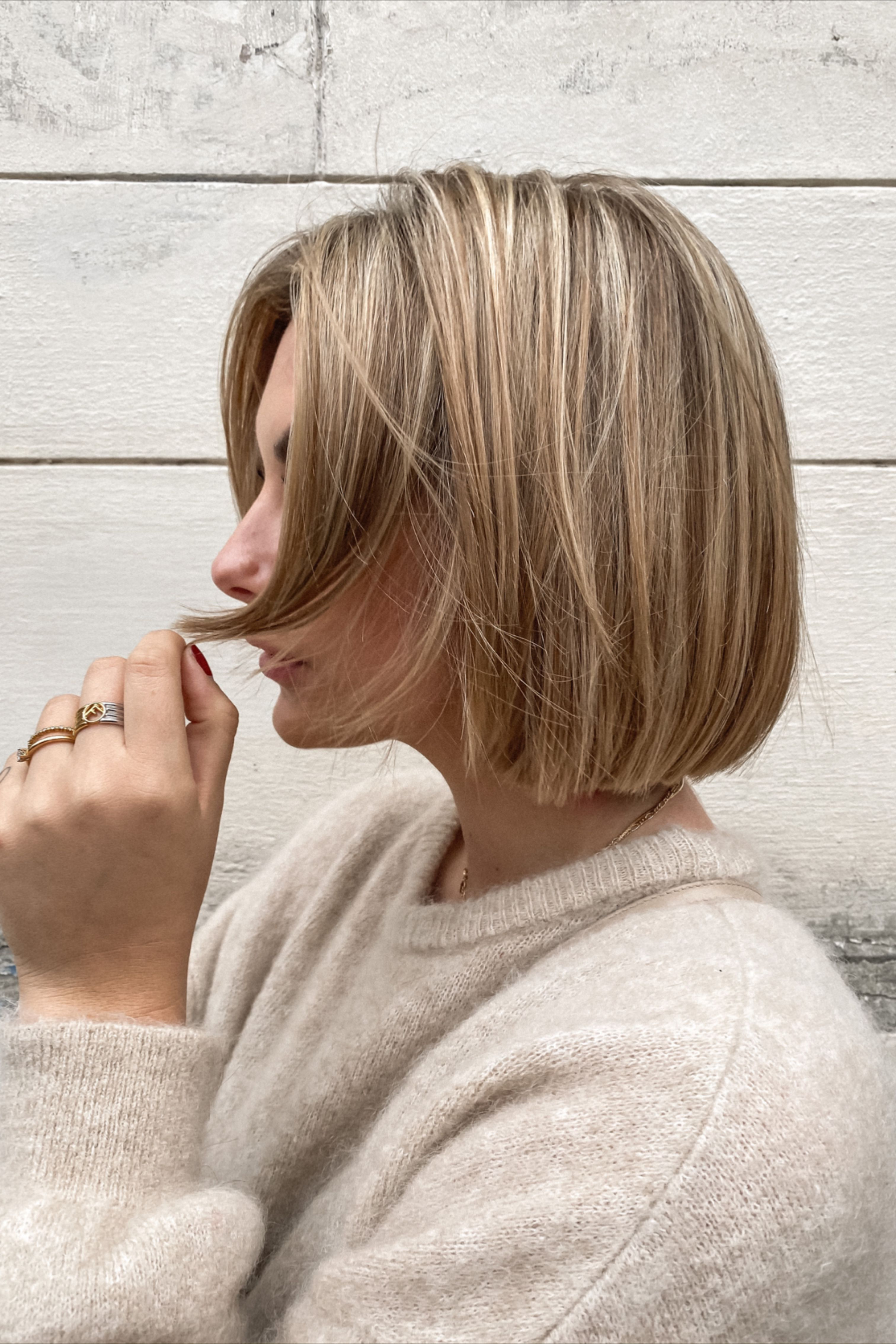 Haare strähnen Balayage Kurze