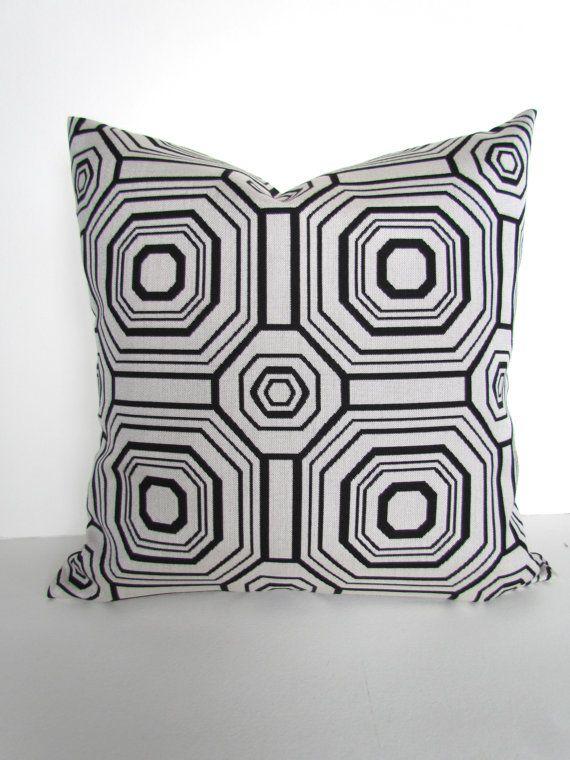Black Pillows Outdoor Throw Pillow Covers Sunbrella High End Black
