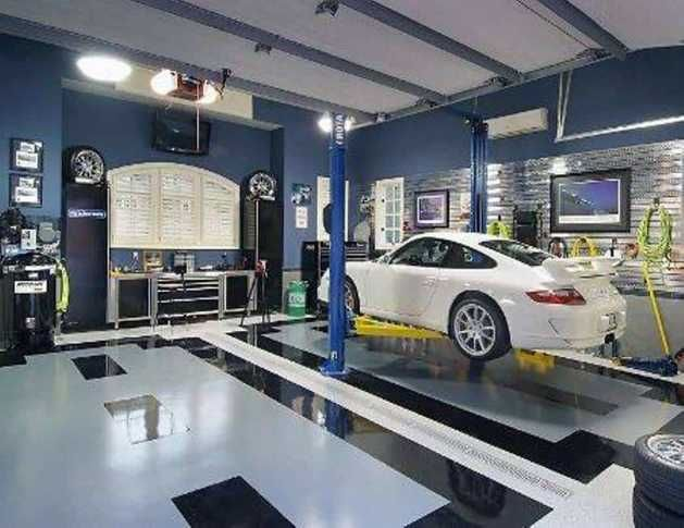 Image Result For Blue Walls Garage Garage Interior