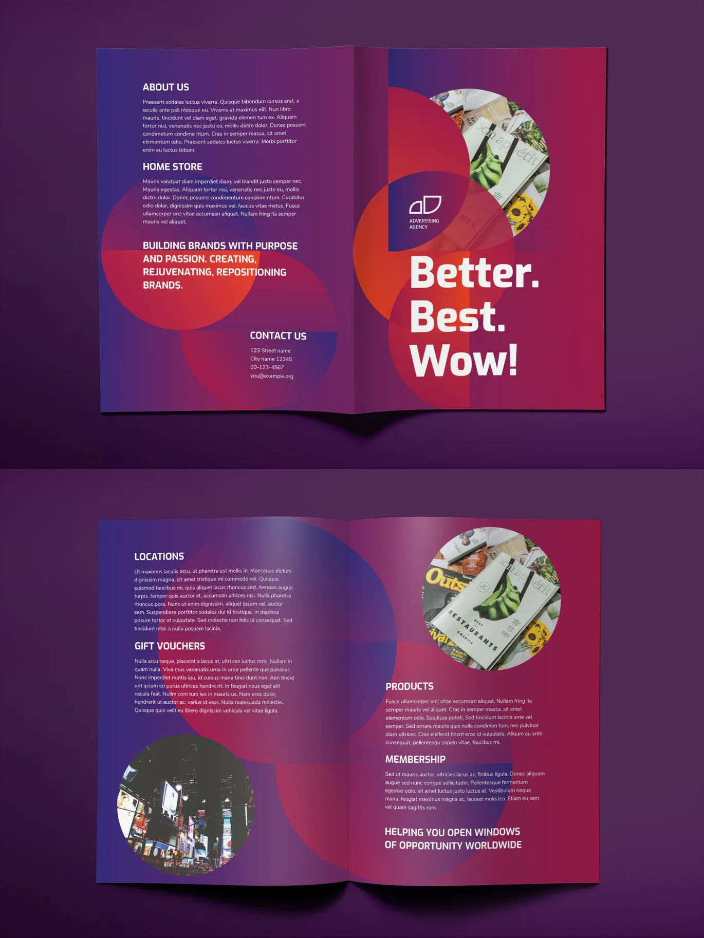 Advertising Agency Bifold Brochure Design Word Agency Business Cards Brochure Design Brochure Design Template