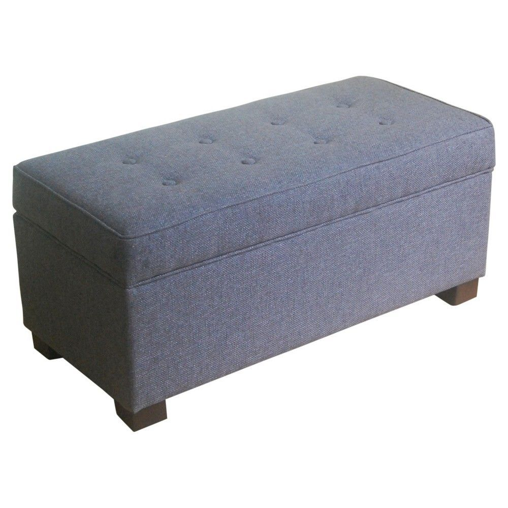 Awe Inspiring Shelton Tufted Top Storage Ottoman Dark Gray Threshold Dailytribune Chair Design For Home Dailytribuneorg