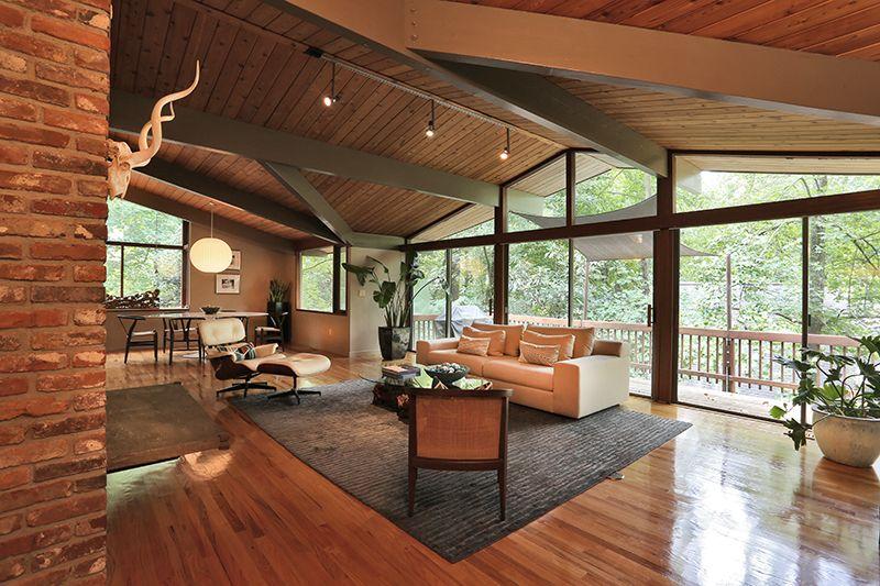 Exterior Atlanta Mid Century Modern Homes For Sale