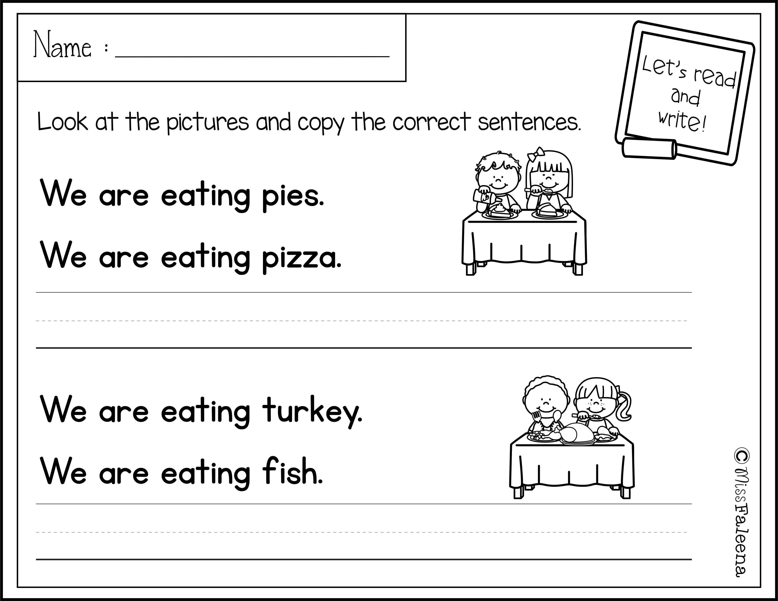 November Sentence Writing