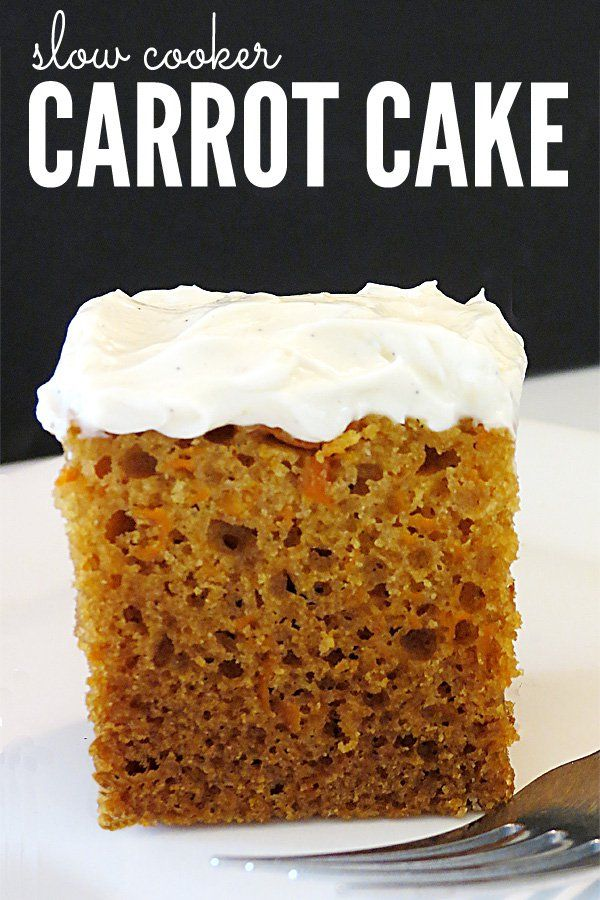 A Delicious Moist Carrot Cake Recipe Cooked In The Slow Cooker
