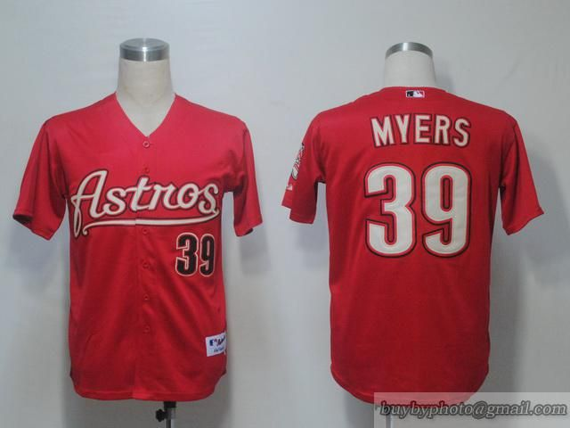 astros 39 brett myers red embroidered mlb jersey houston astros rh pinterest com